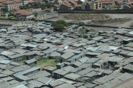 Kibera, Nairobi - From the plane