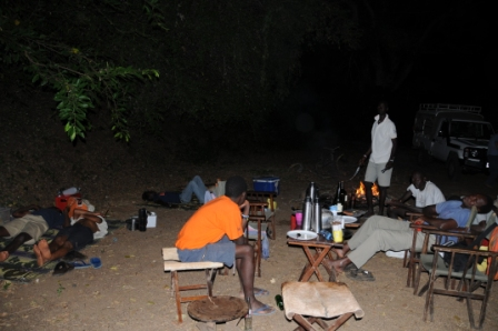 Storytelling in the middle of Omo National Park, Ethiopia