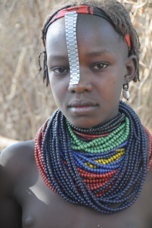 Ethiopian girl at Omorate