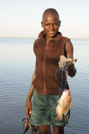 Young Turkana fisherman