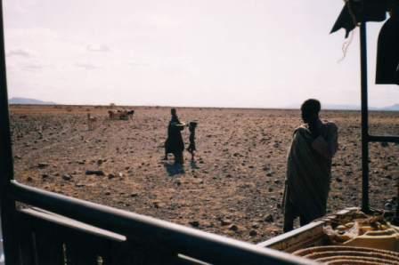 Camino a Kibish, Turkana, 1999