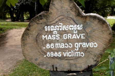 The Killing Fields: sepping mass graves and bones everywhere. What a horrible story