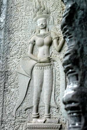 Bas relief of apsara