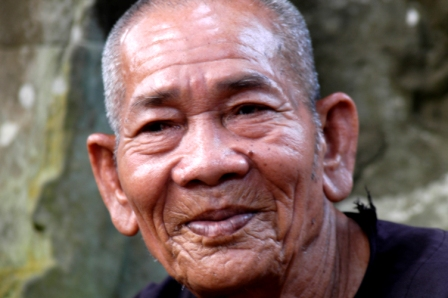 Old temple keeper of Ta Prohm. His portrait was the cover of my Lonely Planet guide for Cambodia