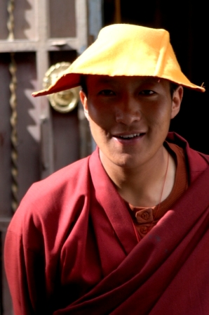 Monk from the Yellow Hat school