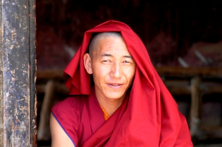 Monk at Drepung Monastery, near Lhasa