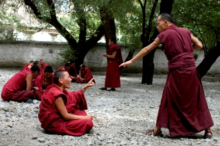 Debate session at Sera Monastery