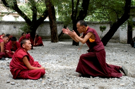 Debate session at Sera Monastery