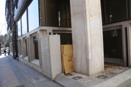la casa de Manfred, en Colón, junto al Banco Madrid