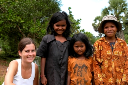 Siem Reap, Cambodia, 2004. These girls were so pretty...