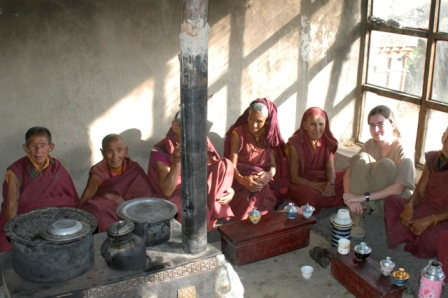 Laddakh, India, 2006. Trekking in the Himalayas I stopped at this nunnery and was invited to share a tea and the evening prayers
