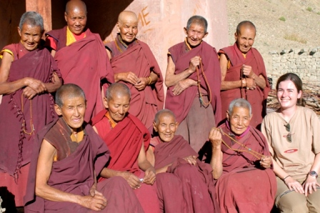 Laddakh , India, 2006. At the nunnery. They were so nice and friendly. Some of them Tibetan who escaped and could never go back to their places. Very tough life up in the mountains...