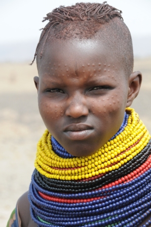 Turkana woman with scarifications in her face