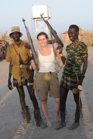 "Todonyang, Turkana, 2009. ""A picture with me? hakuna matata (no prob). Holding the kalashnikov. Sure Hakuna matata"" Never say no to someone with a kalashnikov..."