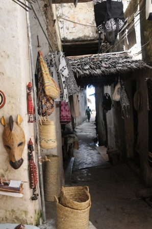 Some of the narrow streets at Lamu Town