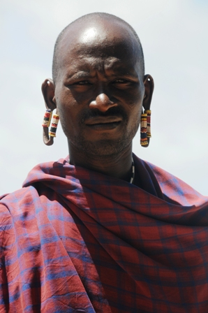 Typical massai earpiercing