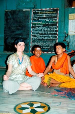 Varanassi, India, 2008. Inside a Ganesh temple...