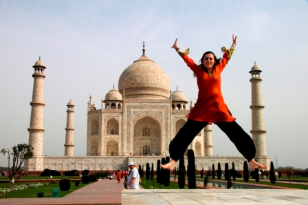 Agra, India, 2008. Or how about just jumping?